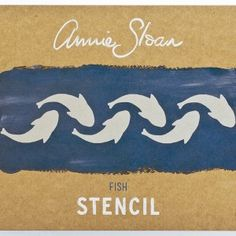 Annie Sloan Stencil Fish - £6.99.  287x200mm stencil, 48x229mm image size. Available from Dovetailsvintage.co.uk