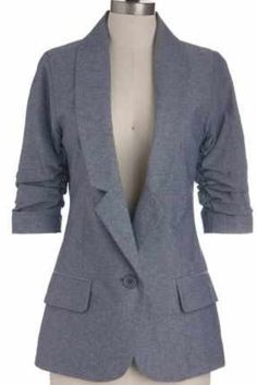 Grey Suit Jacket Modcloth