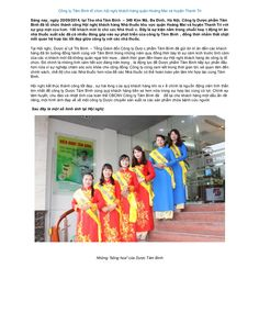 Công ty Tâm Bình tổ chức hội nghị khách hàng quận Hoàng Mai và huyện Thanh Trì by Dược Phẩm Tâm Bình via slideshare