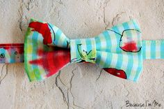 Fun Bright Boys Bow Tie in blue and green with by becauseimme (Accessories, Suit & Tie Accessories, Bowties, dressy suit, casual dress wear, toddler child, preteen bowtie, baby boy bow tie, child tie, wedding party, pretied adjustable, infant ties, formal occasion, photography, blue green plaid, boya bowties)