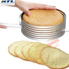 KTL 8-12 Inch Metal Circle Adjustable Stainless Steel Mousse Ring Cake Layer Cut Tools Cake Slicer Device Mold Bakeware(China)