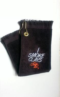 Shooter Towel Skeet Trap Sporting Clays Black Shooting Towel  Clay Targets