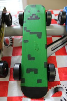 #cubcontest Logan's Minecraft Creeper PineWood Derby car.