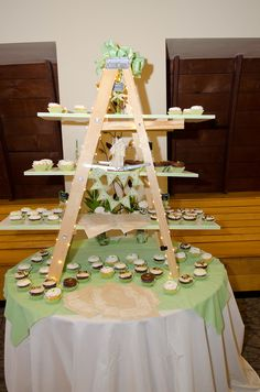 Cupcake Stand Rustic Wedding Reclaimed Wood Barn Tiered Ladder Special Interiors Wood