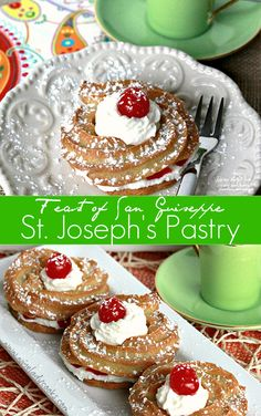 St. Joseph's Day Pastry an Italian pastry filled with cannoli cream traditionally made in March. Click thru for easy recipe.