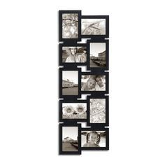 adeco decorative black wood interlocking wall hanging collage photo frame 4 by - Multiple Picture Frames