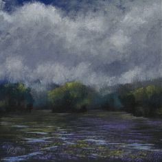 """""""Night Shade"""" by John Dean,  Acrylic on stretched canvas,     11"""" x 11"""""""