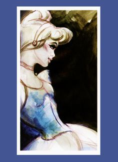 princess watercolor - this is pretty too @Mische Touesnard but with a lighter background eh?