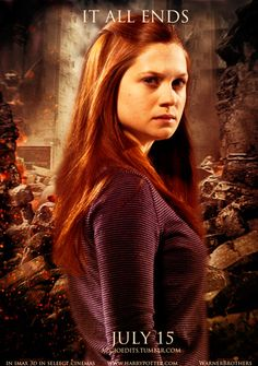 """Ginevra """"Ginny"""" Weasley from the Harry Potter universe. Character portrayed on…"""