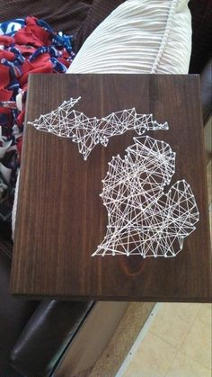 Michigan string art