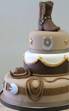 Cowboy groom's cake