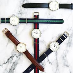 The marble background looks on point featuring some of the original Elmore Lewis Watches classic collection.