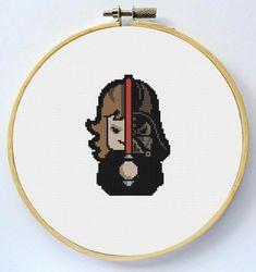 DARTH VADER Cross Stitch Pattern Instant by LaEsquinaDeLuna