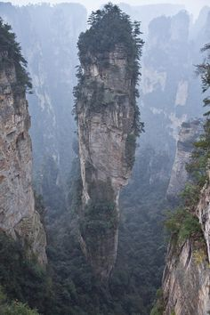Wulingyuan,Hunan Province, China quartzite sandstone pillars