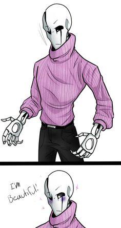 Gaster - Pink sweater challenge. by TheBombDiggity666.deviantart.com on @DeviantArt