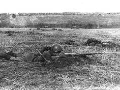 Бой на Бородинском поле. Осень 1941 г.  The battle at Borodino. Autumn 1941