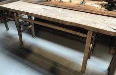 Oude houten tafel herberslifestyle