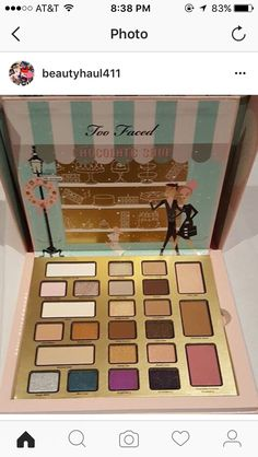 Too Faced 2016 Holiday Palette #makeup #beauty