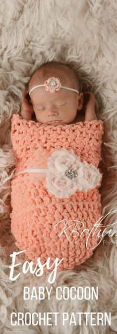 A crochet cocoon is a great last minute baby gift. This baby cocoon crochet pattern I can be made in 1 hour and is beginner friendly. The crochet baby sack will be a picture perfect photo prop.
