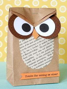 An owl lunch bag is always the right way to go.