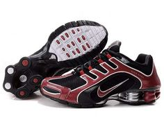 Black Red Nike Air Shox R5 Men Shoes 205