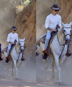 my prince charming on a white horse.