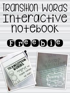 Transition Words {Interactive Notebook} Freebie!