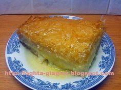 Greek Sweets, Greek Desserts, Greek Recipes, Bar Recipes, Greek Pastries, Greek Dishes, Pastry Cake, I Foods, Sweet Tooth