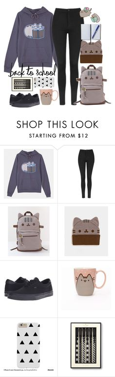 """""""#PVxPusheen"""" by terryxx ❤ liked on Polyvore featuring Pusheen, Topshop, Vans, Kate Spade, Smythson, contestentry and PVxPusheen"""