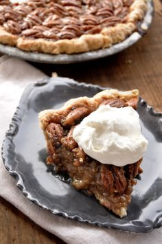 Bacon Maple Bourbon Pecan Pie _ I first started dreaming of this pie two years ago. I was obsessed with the idea of bacon fat pie crust. Bacon fat pie crust + gooey, crunchy pecan filling = love at first bite.
