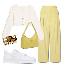 Discover outfit ideas for brunch made with the shoplook outfit maker. How to wear ideas for Victoria, Victoria Beckham - and Nike Air Force One Cute Edgy Outfits, Casual Fall Outfits, Retro Outfits, Classy Outfits, Vintage Outfits, Polyvore Outfits Casual, Yellow Outfits, Teen Fashion Outfits, Outfits For Teens