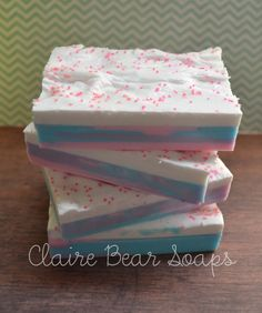 Frosted+Razzmatazz+Handcrafted+Soap+by+ClaireBearSoaps+on+Etsy,+$4.25