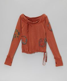 Take a look at this Auburn Silk Tie Top - Girls by Da-Nang on #zulily today!