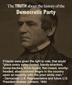 Learn the truth about the racist history, which continues through today, of the Democratic Party. - how can people think this way! Liberal Hypocrisy, Liberal Logic, Politicians, Out Of Touch, Black History Facts, Democratic Party, Democratic Socialist, Know The Truth, Truth Hurts