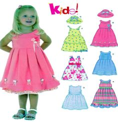 Girls Summer Dress and Hat Sewing Pattern by FindCraftyPatterns, $8.00