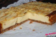 Tarta de queso y manzana. Si os gustan las dos, esta os va a encantar http://cocina.facilisimo.com/blogs/recetas-postres/tarta-de-queso-y-manzana_1351408.html?aco=1fm5&fba