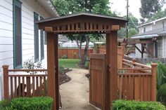 CRAFTSMAN ARBOR AND FENCE by MoochExteriorDesigns, via Flickr