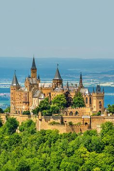 Castle Hohenzollern in Germany If you like this European castle. Check others on my Castles in Europe board :) Thanks for sharing! Castle Ruins, Medieval Castle, Beautiful Castles, Beautiful Places, Cool Places To Visit, Places To Go, Germany Castles, Amazing Buildings, Beautiful Architecture