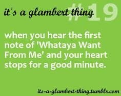 My favorite song- thank you P!NK and Adam. Glambert quotes.