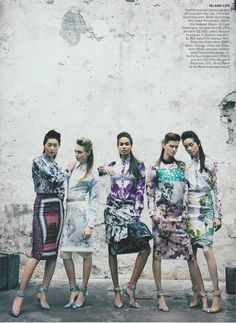 Digital prints galore.  Major trend for SS12.  Call it the Mary Katrantzou effect...