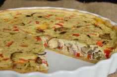 Citromhab: Sonkás-gombás pite Quiche, Pizza, Appetizers, Bread, Dishes, Baking, Breakfast, Easy, Recipes