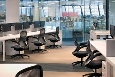 Generation by Knoll at the award-winning Arthur J Gallagher offices in London. British Council, Learning Spaces, Offices, Rv, Awards, Design Inspiration, London, Interior Design, Places