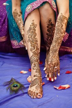 Bridal mehndi design HennaArt - June 23, 2012  Zara Wedding  www.HennaArt.ca