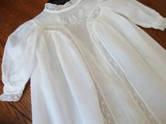 Victorian Christening Gown Antique Baby Gown Lace and Embroidery