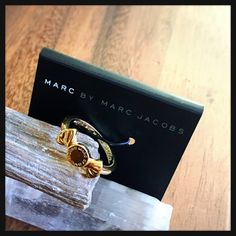 "Available until 3/26/16 -M BY MARC JACOBS Bow Ring New with tag! Authentic! Cute Marc by Marc Jacobs bow ring with the signature ""MBMJ"" stud!  14K gold! :) Marc by Marc Jacobs Jewelry Rings"
