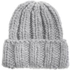 Kiss by Fiona Bennett Kirk Silver Grey Hand knit beanie ($88) ❤ liked on Polyvore featuring accessories, hats, beanies, hair, grey hat, gray beanie hat, silver hat, grey beanie and beanie cap