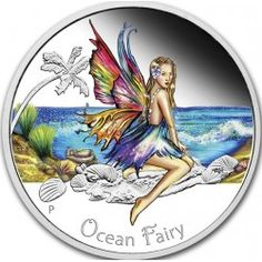Buy the Ocean Fairy 2016 Silver Proof Coin from The Perth Mint, featuring: Proof Quality Pure Silver Beautiful Colour Reverse Design Limited Mintage – Innovative Presentation Packaging Give Me My Money, Birthday Tags, Funky Art, Proof Coins, World Coins, Half Dollar, Coin Collecting, Silver Coins, Fairy