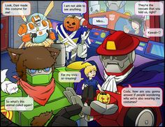 Rescue Bots -Learning Halloween- by SolarGirlMina on DeviantArt. Awww this is soo cute!! Wait a minute.... Chase has his gorgeous face covered...WHY!! He needs to show his beautiful face! ;)
