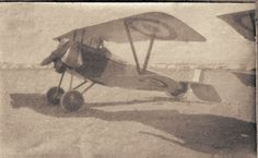 Nieuport 11 (Bébé) A French machine and almost certainly at the base airfield at Kalamaria aircraft park Mikra Bay Taken early 1917