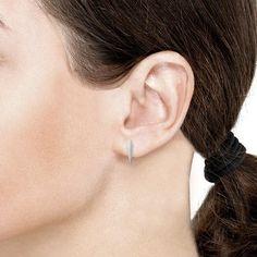 For Her - OAK Love-Struck Silver Stud Earrings - OFJ115